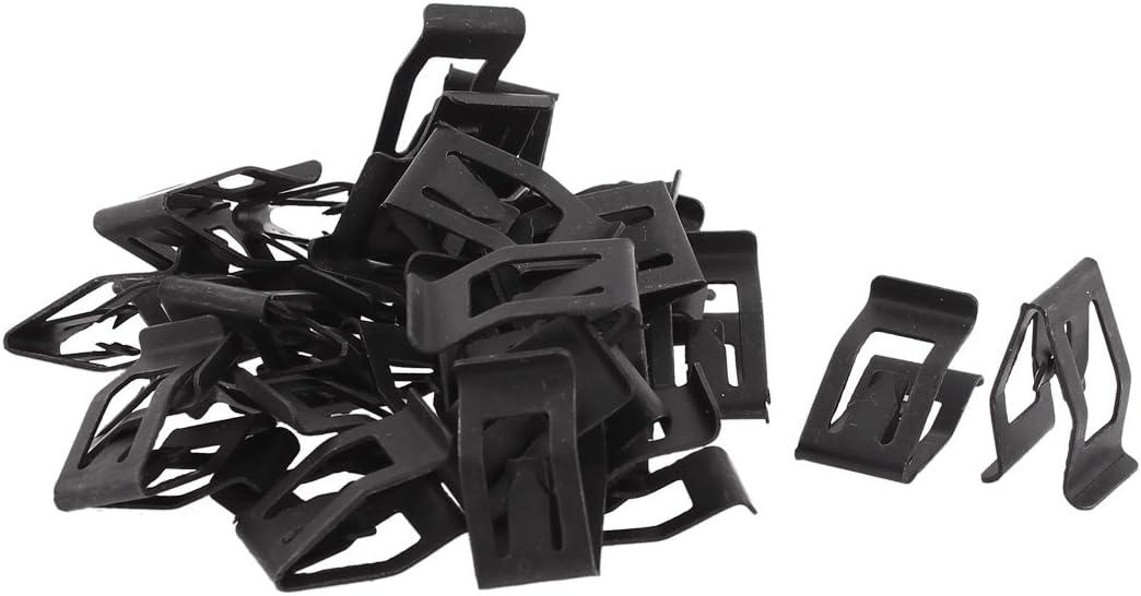 uxcell 30Pcs Auto Car Front Console Dash Dashboard Trim Metal Retainer