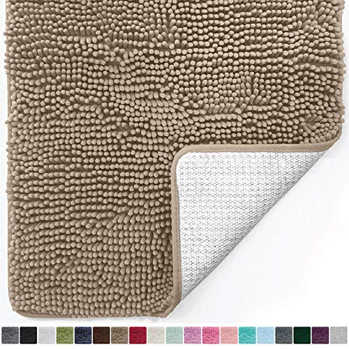 Runner Bath (Gorilla Grip Original Luxury Chenille Bathroom Rug Mat (30 x 20), Extra Soft and Absorbent Shaggy Rugs, Machine Wash/Dry, Perfect Plush Carpet Mats for Tub, Shower, and Bath Room (Beige))