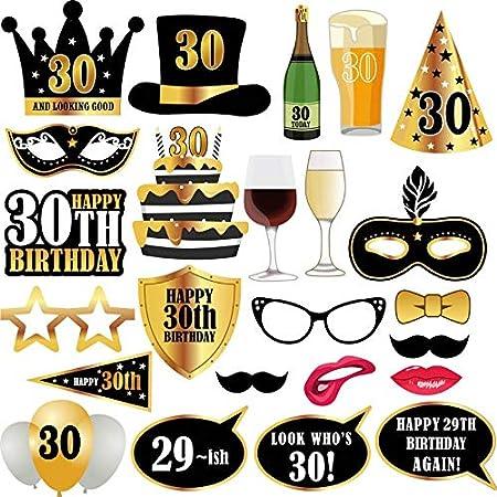 Geburtstagsfeier Dekorationen Losuya 30 Geburtstag Fotorequisiten Foto Stand Requisiten lustig f/ür Seine oder ihre 30