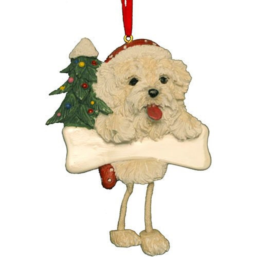 Maltese christmas ornaments - Amazon Com Maltese Puppy Ornament With Unique Dangling Legs Hand Painted And Easily Personalized Christmas Ornament Pet Memorial Products Pet