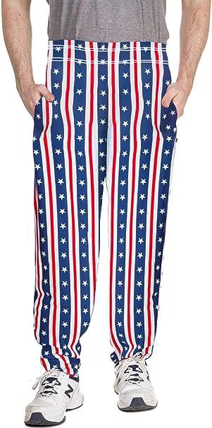 Mens US Flag Patriotic Stars /& Stripes USA Knit Sleep Pants Pajama Bottoms