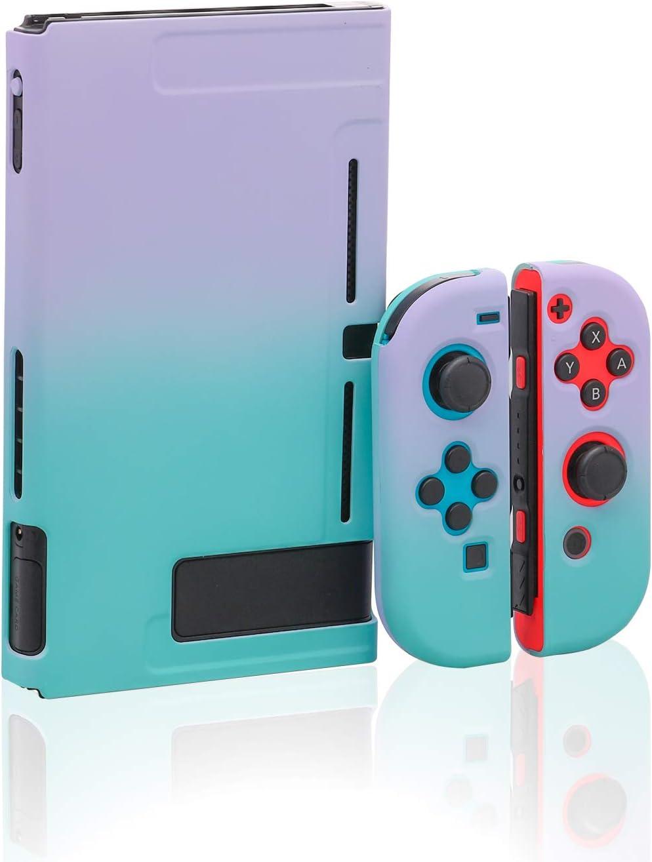Dockable Case for Nintendo Switch, Hard Case for Nintendo Switch - Purple Green
