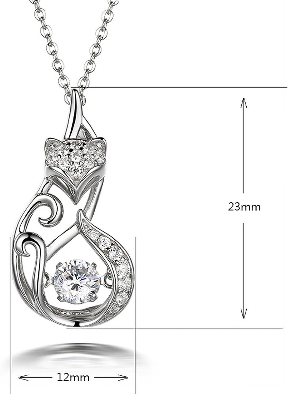 MMC Womens Leaf Cubic Zirconia Wedding Necklace Silver Pendants Necklaces