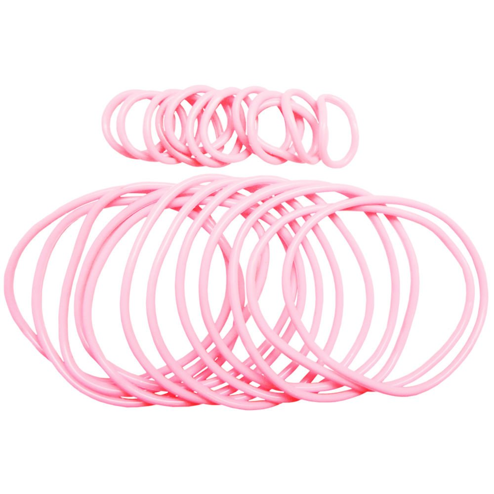 GirlPROPS 12 Rubber Jelly Bracelets with 12 Rings in Black GirlPROPS(R) GP-983634-MDN