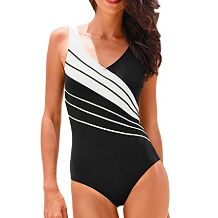 7128c01e3289a Amazon.com: Peigen Women One-Piece Plus Size Bikini Tankini Sets Swimming  Costume Padded Swimsuit Push Up Swimwear: Toys & Games