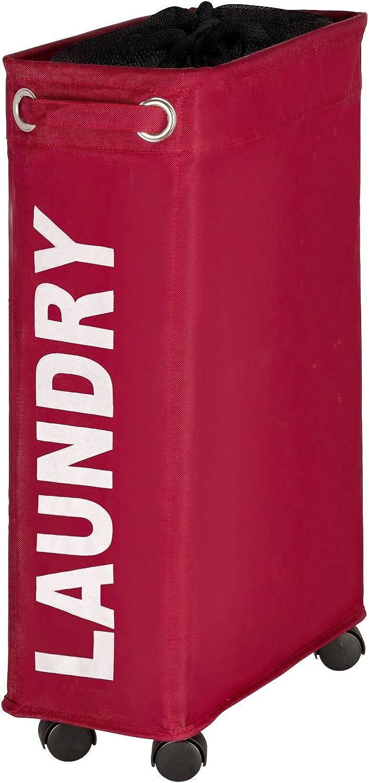WENKO 3450114100 Laundry Bin, red