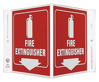ZING 2516 Señal en V de proyección, extintor de incendios, 7 ...