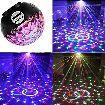 Erligpowht Stage Lights Rotating Magic Effect Disco Ball Light - Childrens disco lights bedroom