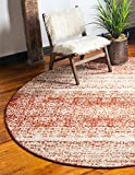 Unique Loom Autumn Collection Casual Rustic Warm Toned Terracotta Round Rug (8′ x 8′) Review