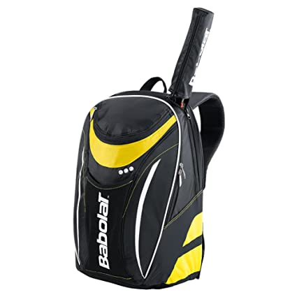 BABOLAT Club Line Backpack, Black/Yellow, One Size,Tennis Racquet Bags