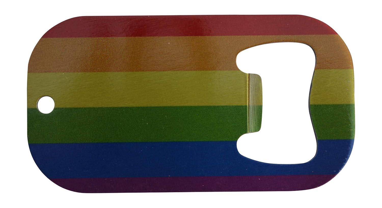 LGBT Rainbow Flag Bottle Opener Heavy Duty Stainless Steel Gift Idea Gay Lesbian