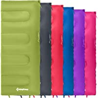KingCamp Oxygen 2 Season Lightweight Joinable Envelope Sleeping Bag in 6 Colours for Camping, Festivals, Hiking, Home or Outdoors Connectable Bed-Rolls can be Joined Together for Extra-Space