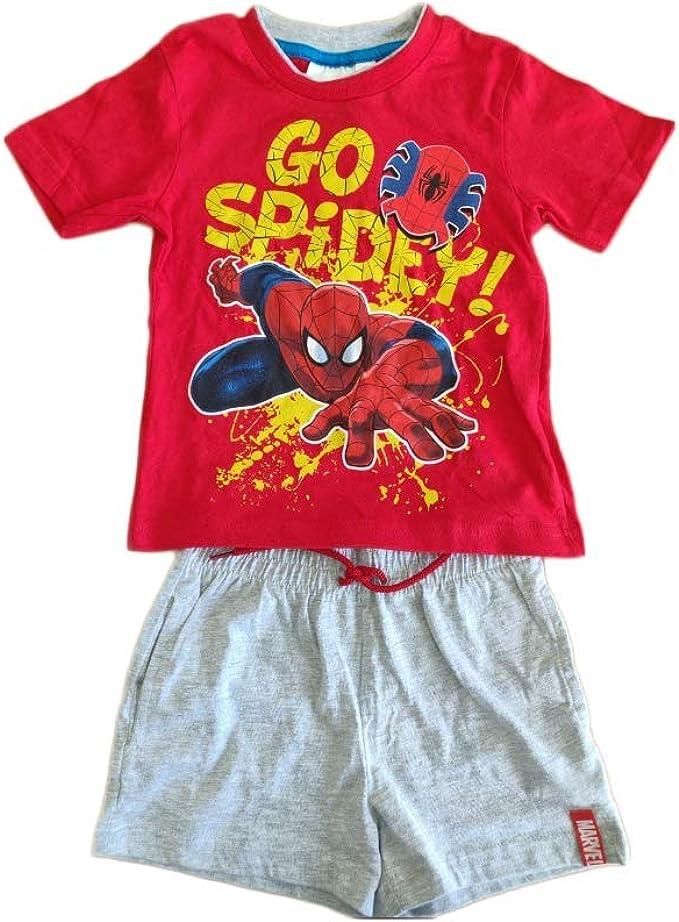Completo Bambino Spiderman T-Shirt Pantaloncino Estate 2020