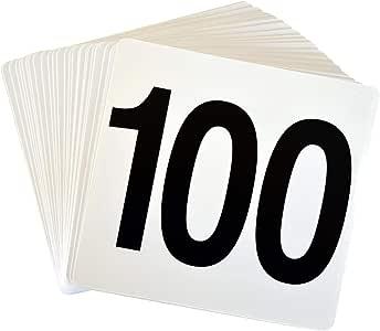 Tarjetas con números de mesa del 1 al 100 - De doble cara ...
