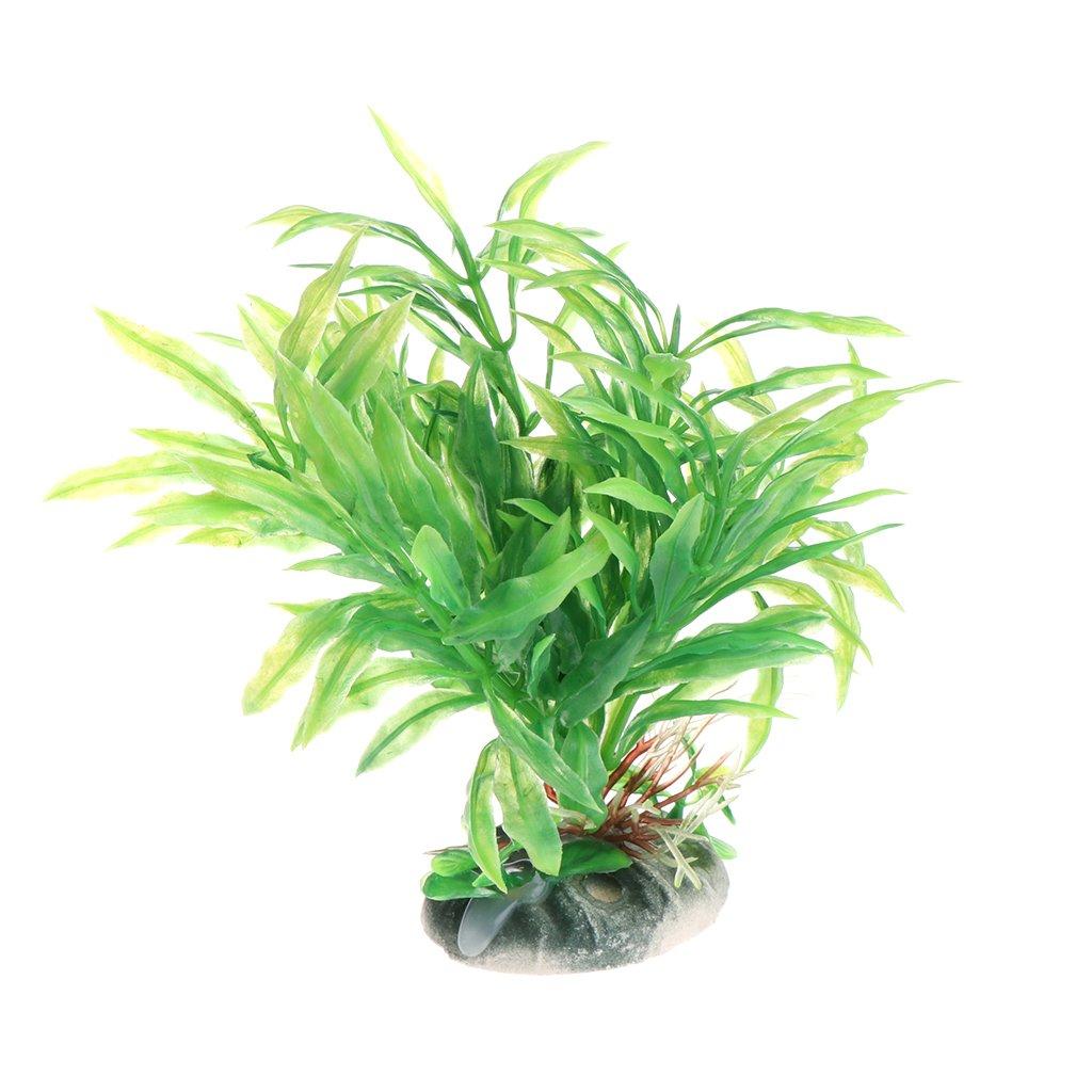 Kalttoy Plantas Acuáticas Plantas Plástico Plástico Verde Vivido ...
