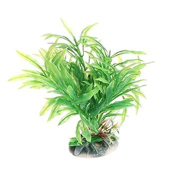 BouT 1 Pieza de Plantas acuáticas Acuario plástico Verde Vivo Adorno de pecera Decoración: Amazon.es: Productos para mascotas