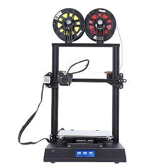 3Dプリンター3Dプリンターキット3DプリンターDIYキット2色印刷最大100mm/s印刷4.3インチタッチスクリーン速い冷却速度2つの冷却ファン(USプラグ)