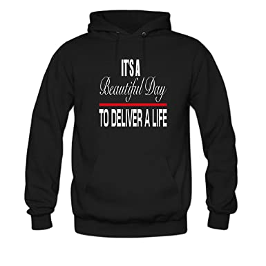 Amazon.com  ZWEN Women s It s a Beautiful Day to Deliver a Life Long ... 8ce54ac104