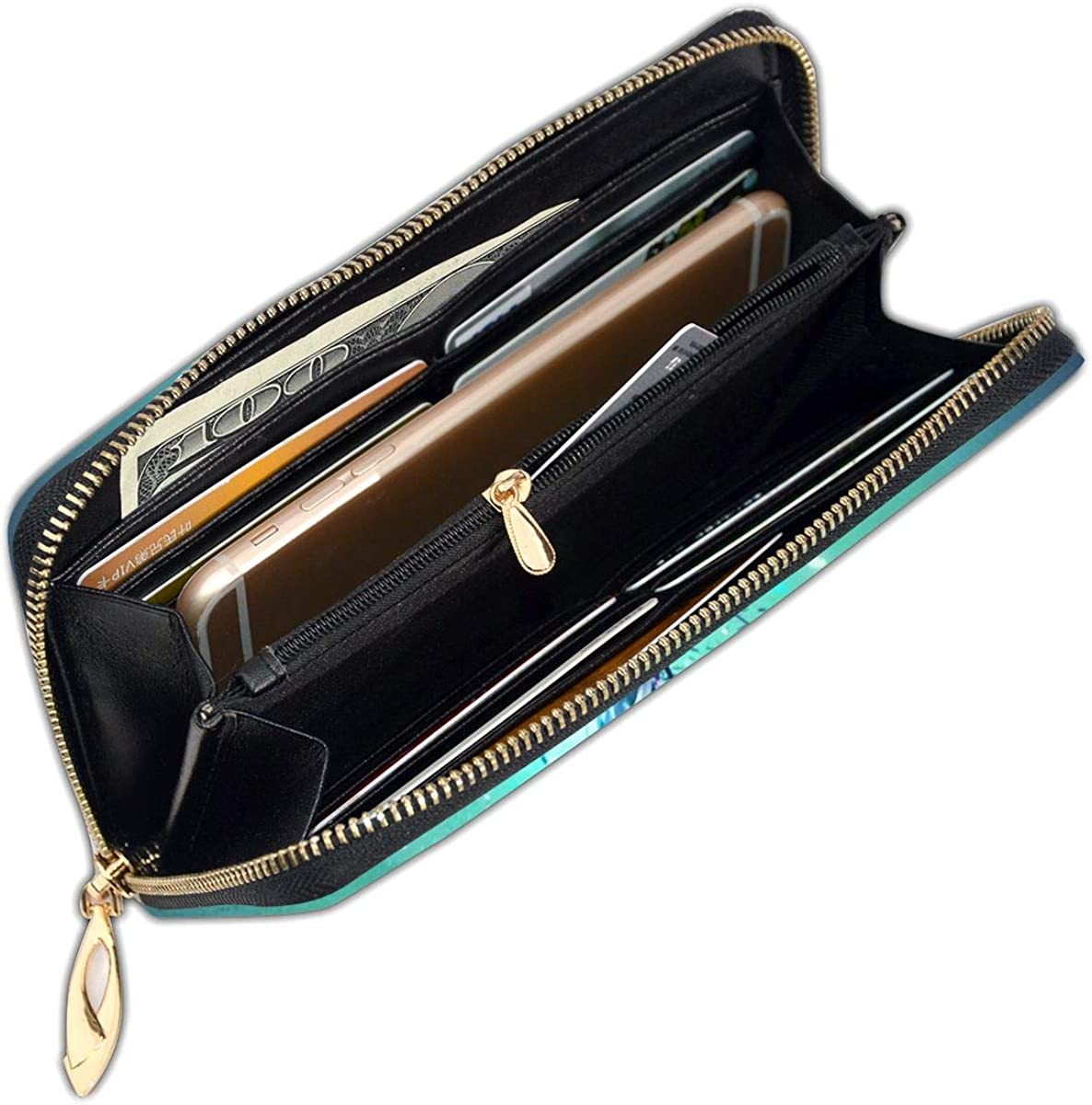 Animal Starry Hummingbird Wallets For Men Women Long Leather Checkbook Card Holder Purse Zipper Buckle Elegant Clutch Ladies Coin Purse