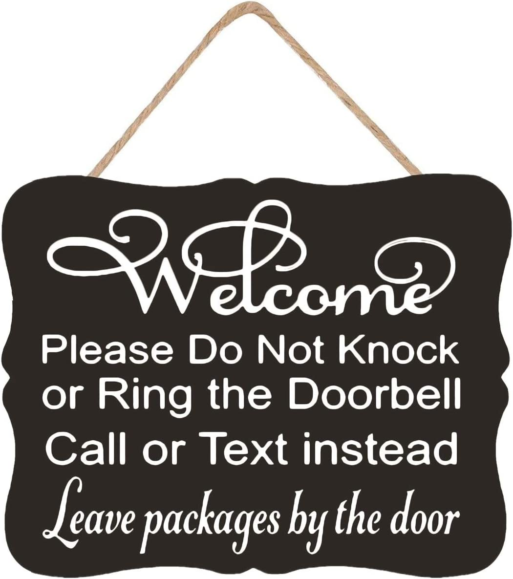 Sunbory Dog Signs, Welcome Sign, Do Not Knock, Outdoor Decor, Do Not Ring Doorbell, Baby Sleeping, Leave Packages, Do Not Knock Sign