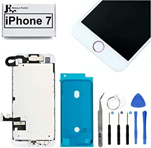 Full Screen Replacement LCD 3D Touch Assembly Front Camera Ear Speaker Home Button with Frame Adhesive and Repair Tools for iPhone 7 4.7 inch (Rose Gold)
