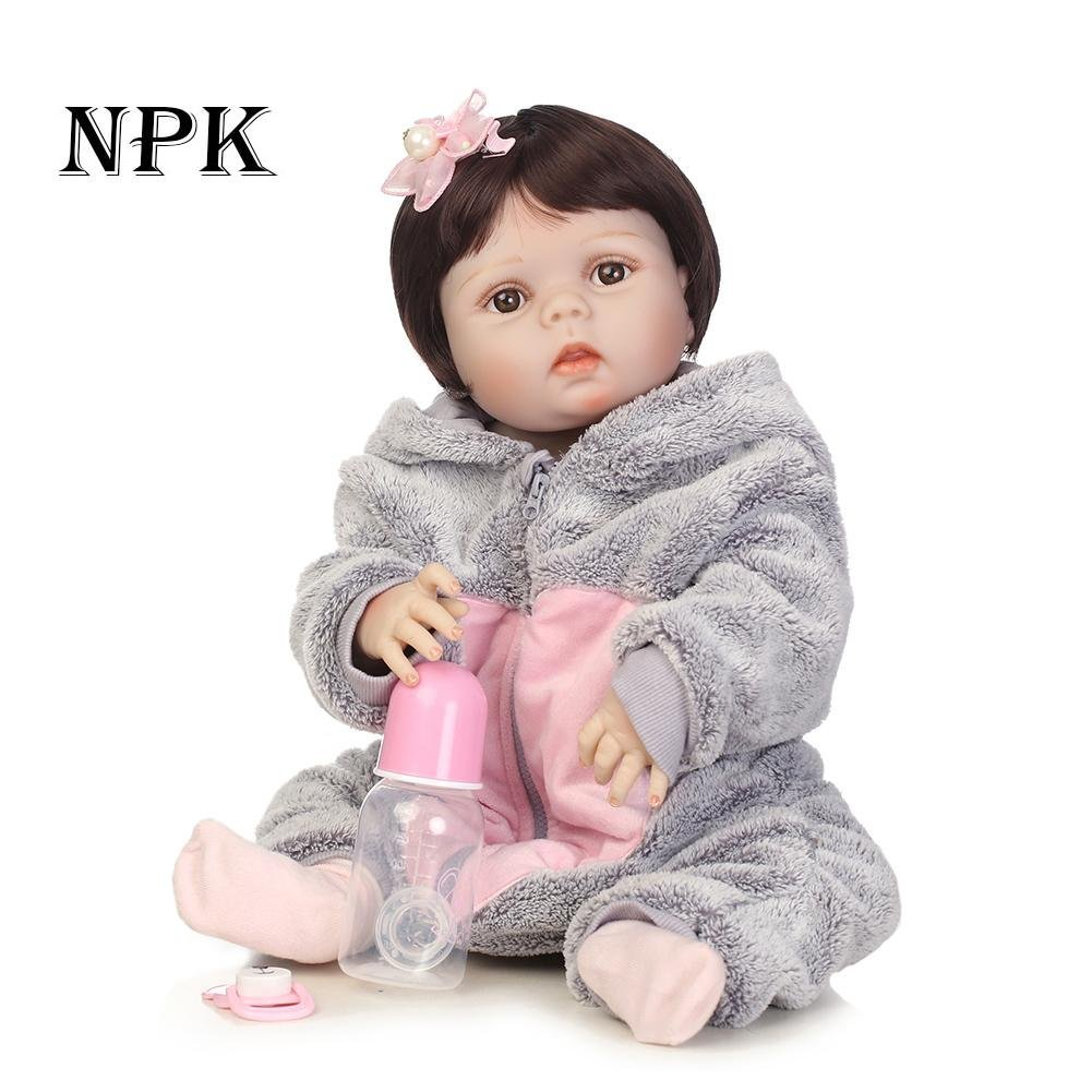 chinatera Kids Toys NPK Artificial Soft Silicone Reborn Baby Dolls Simulation Lifelike Infants Doll by chinatera (Image #2)