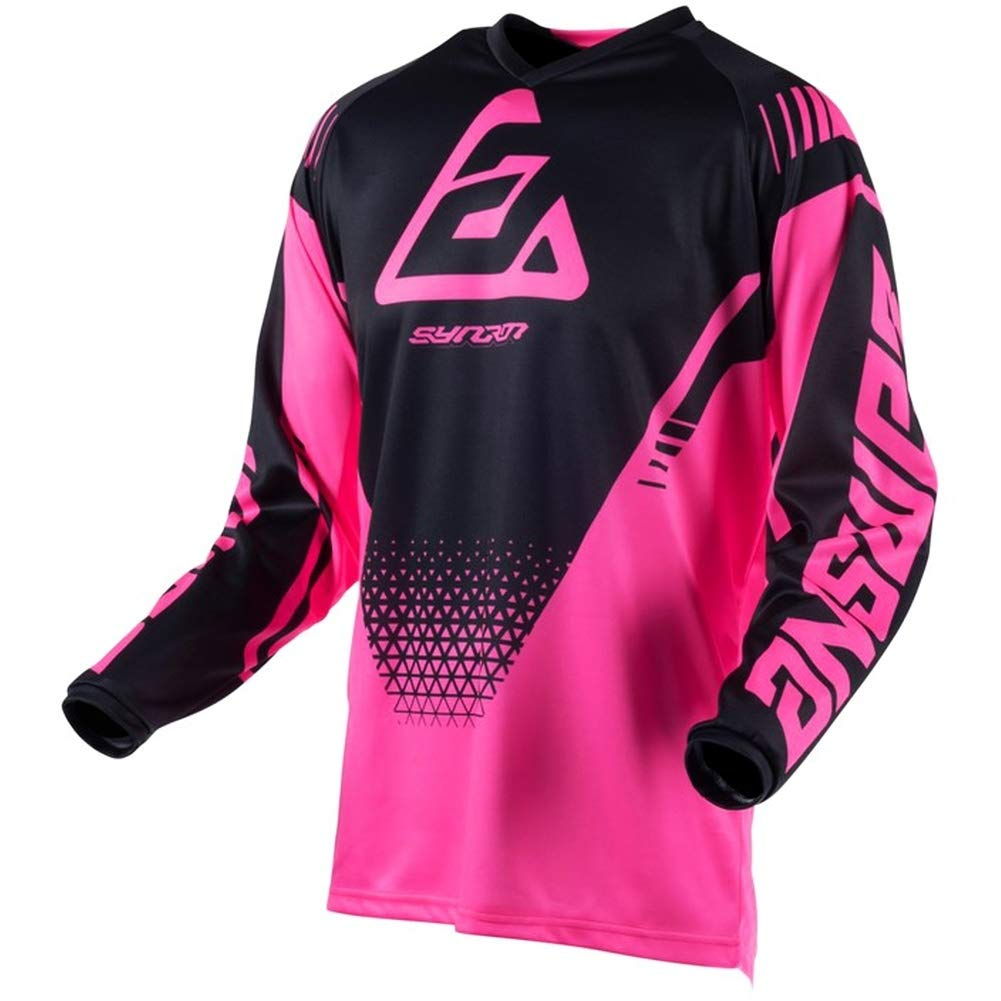 Answer Racing A19 Syncron Drift Youth Boys Off-Road Motorcycle Jersey - Flo Pink/Black / X-Small