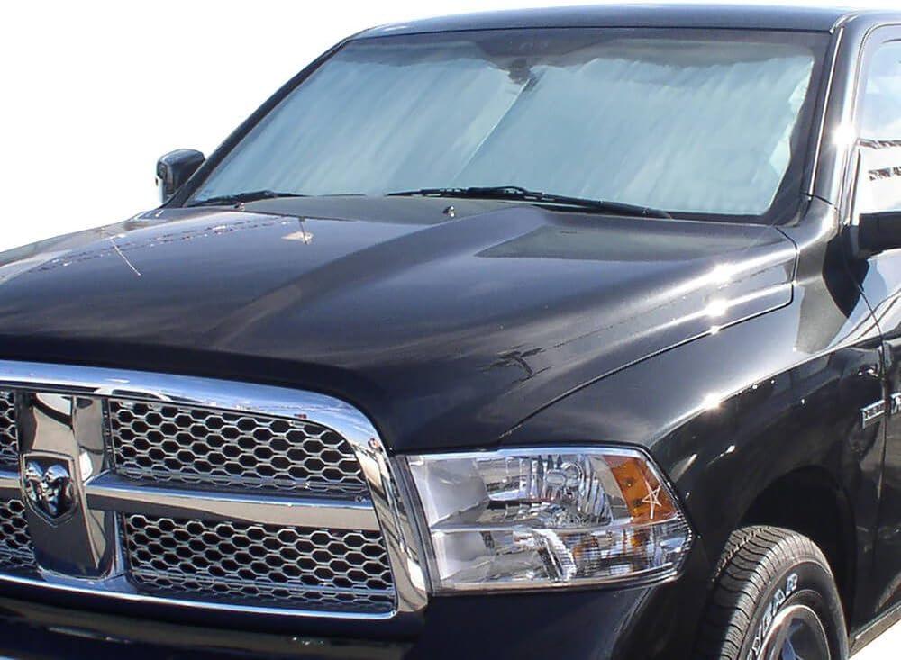 The Original Windshield Sun Shade HeatShield Custom-Fit for Ram 1500 Truck 2010-2018 Silver Series