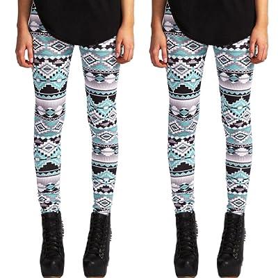 f90cfc2c1973dd Casual Women Lady Skinny Geometric Print Stretchy Jegging Pants Slim  Leggings