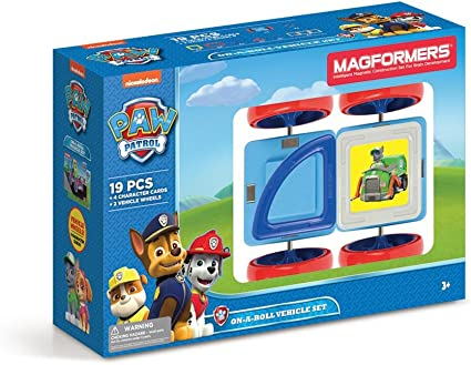 Paw Patrol 12 PC Add On RAINBOW Colors Educational Magnetic Geometric Shapes Til