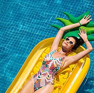 Classic Giant Inflatable Pineapple Swimming Pool Float Raft 76 Jumbo Tropical