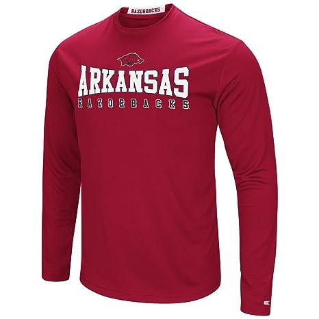 030e5b80b27 Colosseum Arkansas Razorback T-Shirt Performance Long Sleeve Shirt (Large)
