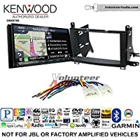 Volunteer Audio Kenwood DNX874S Double Din Radio Install Kit with GPS Navigation Apple CarPlay Android Auto Fits 2009-2015 Non Amplified Toyota Venza