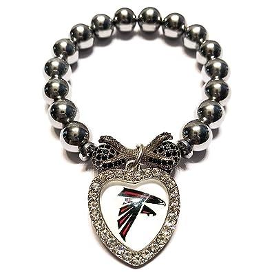 Amazon.com  Stonez Atlanta Falcons Beaded Bracelet  Jewelry 28d454365ac4