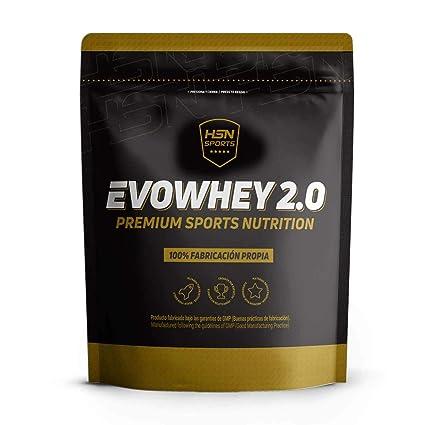 Whey Protein Concentrate (WPC) de HSN Sports - Concentrado de Proteína de Suero Evowhey 2.0 - Apto Vegetariano, Sin Gluten, Sin Soja, Sabor Chocolate ...
