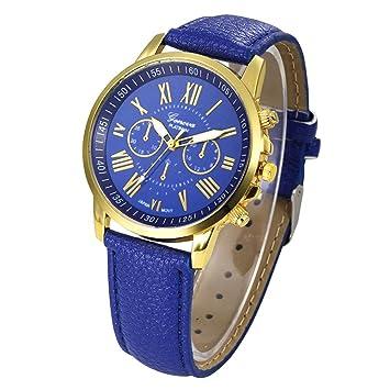 Xinantime Relojes Pulsera Mujer,Xinan Cuarzo Romana Cuero de Imitación Relojes Regalo (Azul): Amazon.es: Deportes y aire libre
