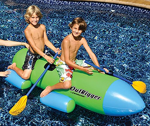 """77"""" Water Sports Outrigger Inflatable Swimming Pool 2 Per..."""