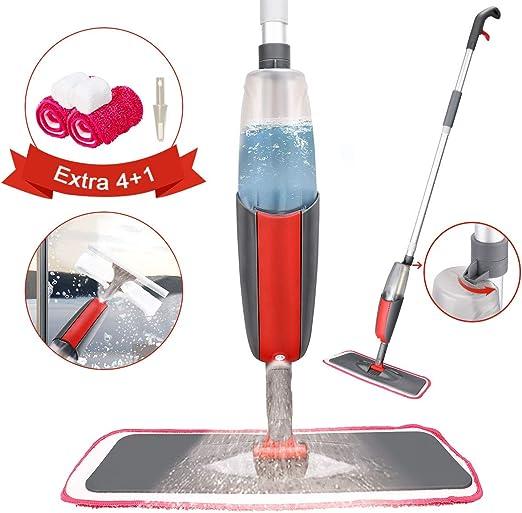 Tencoz Spray Mop, Fregona con Vaporizador, Mopa Fregona con 4 La ...