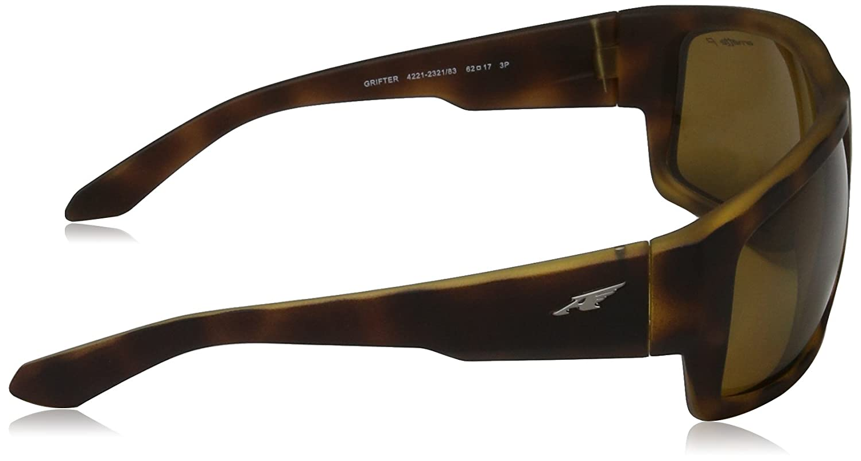 Arnette Herren Sonnenbrille 0AN Grifter 23497D, Gold (Matte Goldy Black/Mirrorgold), 62