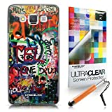 CASEiLIKE Graffiti 2721 Ultra Slim Bumper Snap-on case back cover for Samsung Galaxy A5 +Screen Protector +Retractable Stylus Pens (Random Color)