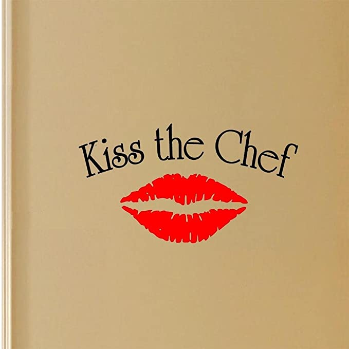 Amazon.com: Kiss the Chef Vinyl Wall Art Decal Multi Color Cooking ...