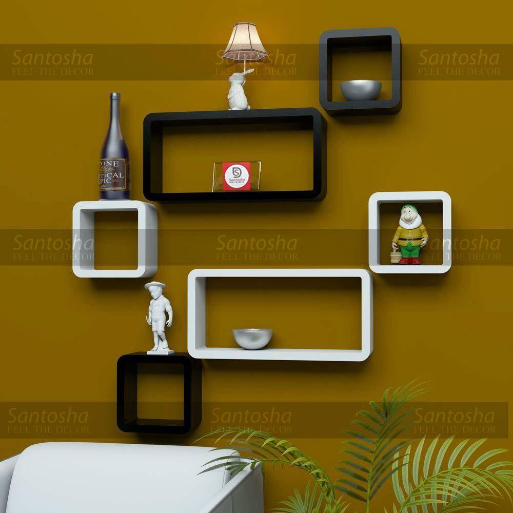 Santosha Decor Shelf Cube Rectangle Designer Wall Rack and Shelves ...