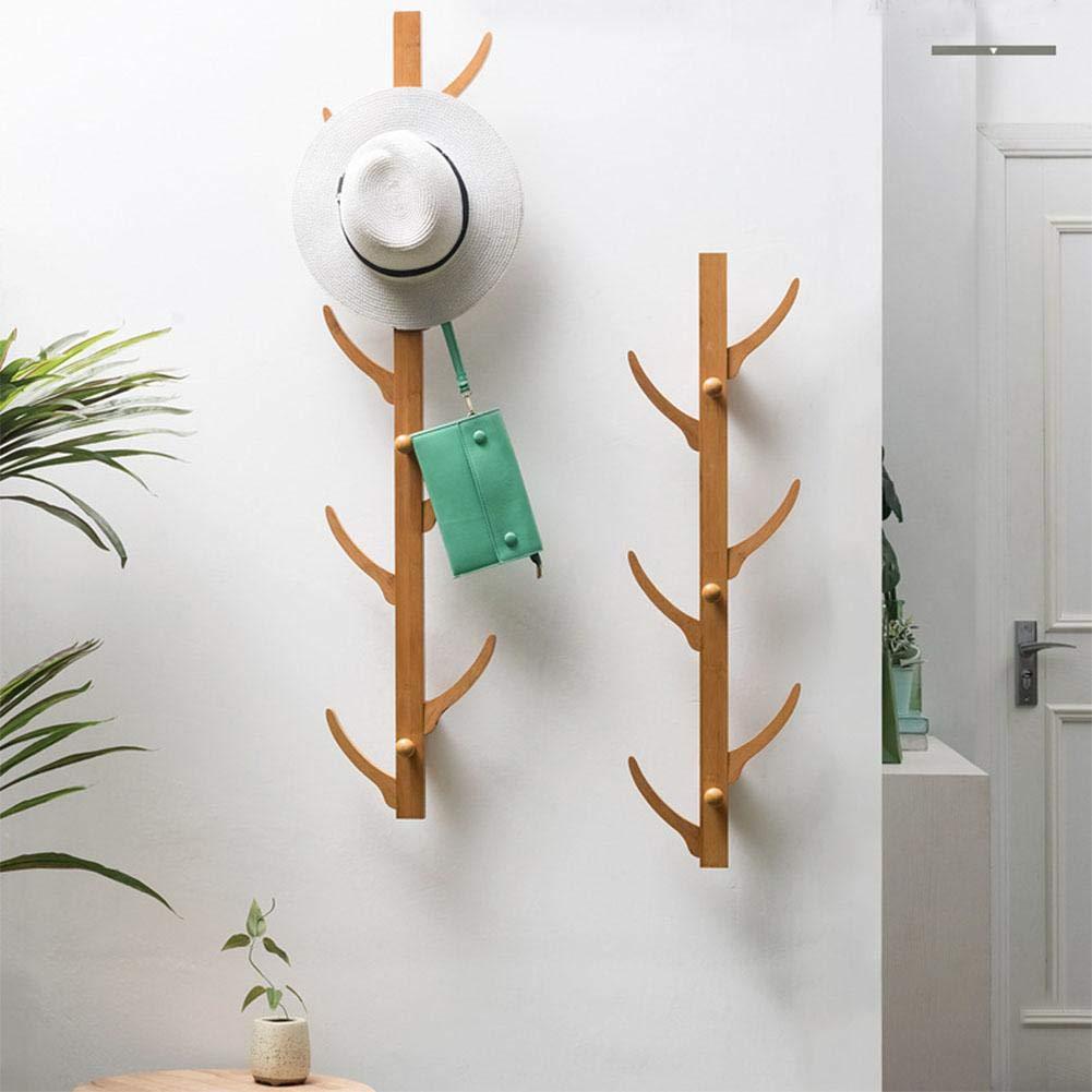 Quiet.T Appendiabiti a Muro con 6/8 Ganci Camera da Letto Hook Door Clothes Shelf Storage Organizer Rack, 2 Dimensioni