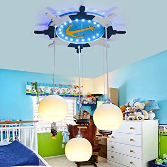 interesting chambre enfant bateau pirate en bois plafonnier led lampe suspension enfant une. Black Bedroom Furniture Sets. Home Design Ideas