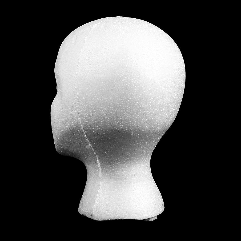 Set of 2pcs Mannequin Head Female Styrofoam Mannequin Manikin Head Model Foam Wigs Hair Glasses Display