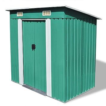 ... caseta de jardín metálica de Metal Invernadero almacén, Caseta de Jardín Tipo Cobertizo Metálico para Almacenamiento de Herramientas: Amazon.es: Jardín