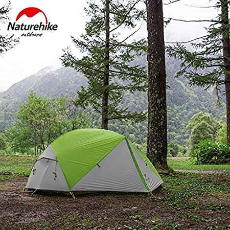 Mongar 3 Season Camping Tent 20D Nylon Fabic Double Layer Waterproof Tent for 2 Persons NH17T007-M