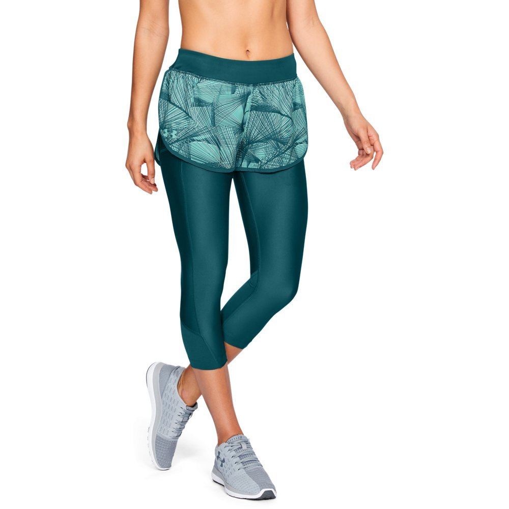 Under Armour Women's Armour Fly Fast Printed Shapri, Tourmaline Teal /Reflective, Small