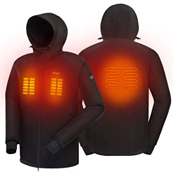 redder Heated Jacket for Women Rechargeable Winter Warm Keeping Jacket- Battery Not Included