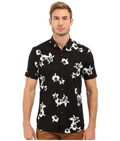 7 Diamonds Men s My Wish Short Sleeve Shirt Black Button-up Shirt ... 1e574a8d6